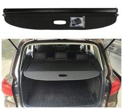 Dla Volkswagen VW Tiguan 2010-2018 tylna pokrywa bagażnika pokrywa bezpieczeństwa odcień ekranu wysokiej jakości akcesoria samochodowe