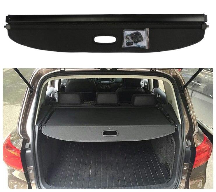 Pour Volkswagen VW Tiguan 2010-2018 coffre arrière housse de protection de sécurité écran ombre de haute qualité accessoires de voiture