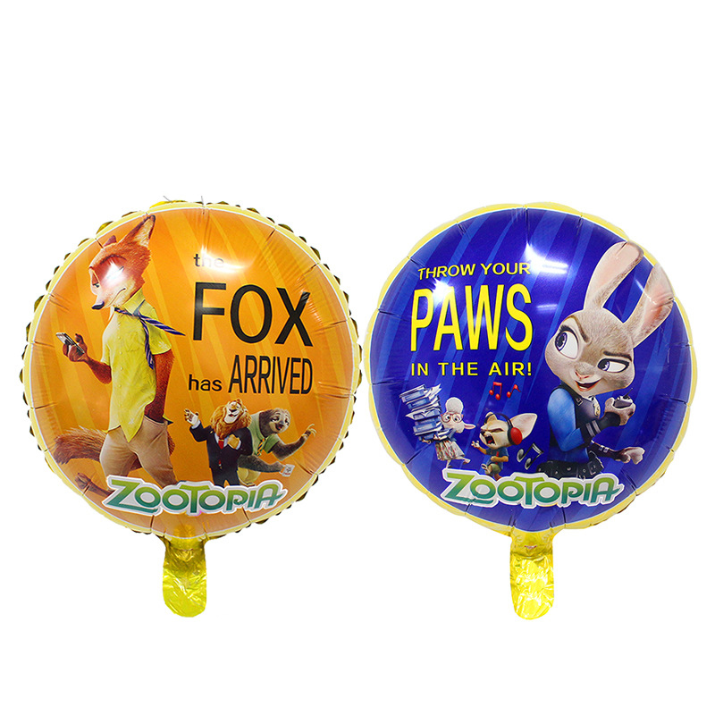 New18inch Zootopia Foil Balloons Crazy Animal City Firm Balloon Boy Birthday Party Decor Ballon Kids Toys Globos