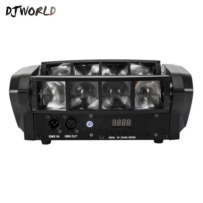 Mini LED Beam 8x6W Spider DMX512 Stage Effect Lighting Good For DJ Disco Party Dance Floor Nightclub And Christmas Decorations-in Stage Lighting Effect from Lights & Lighting