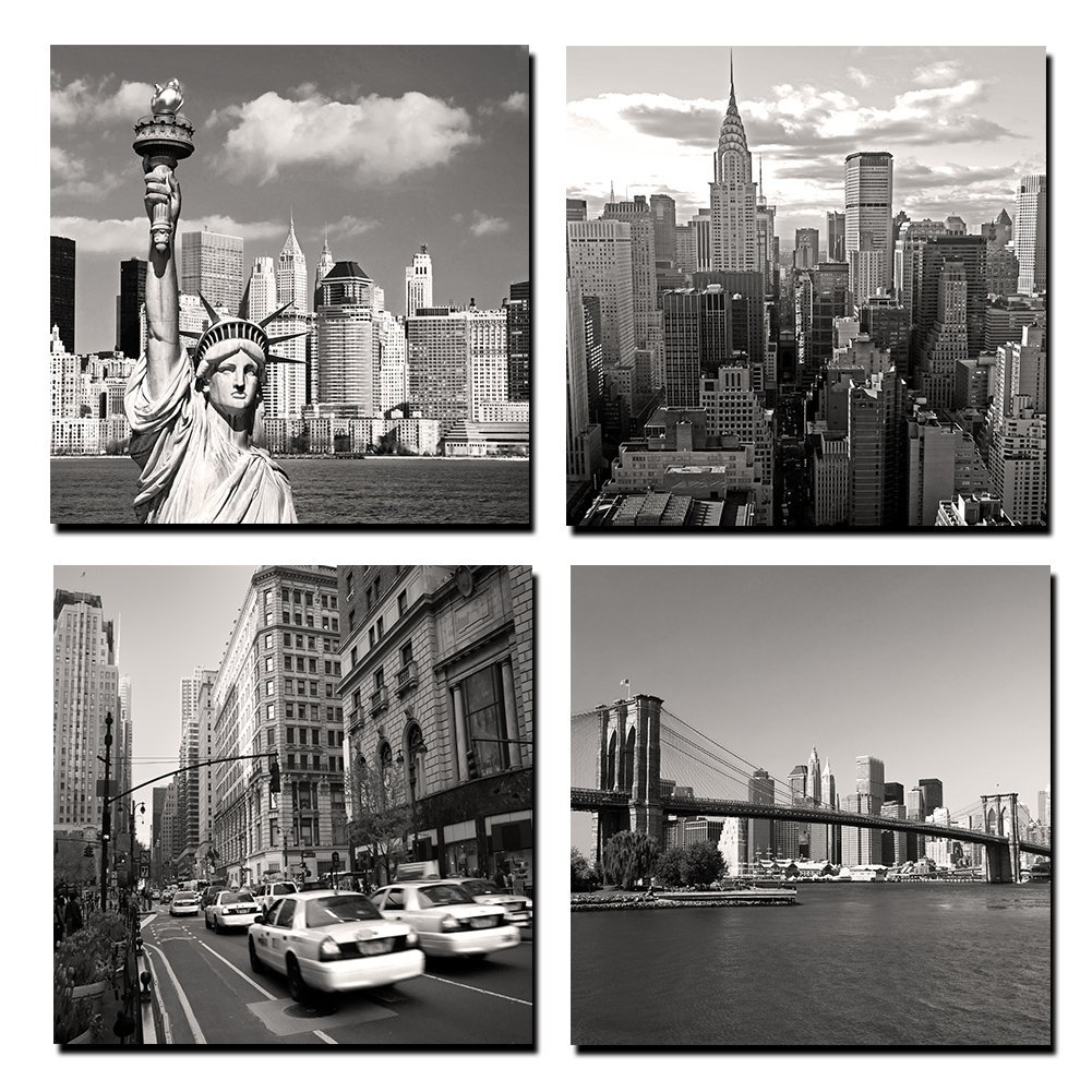 New York City Wall Art online get cheap wall art canvas landmarks -aliexpress
