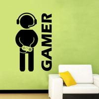 NAI YUE Game Wall Stickers For Kids Room Vinyl Nursery Home Decoration Art Gamer Video Joystick