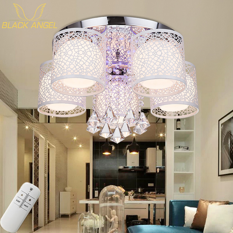ФОТО Crystal LED Ceiling light for living room bedroom bright lamp luminaria teto modern lighting for home decoration