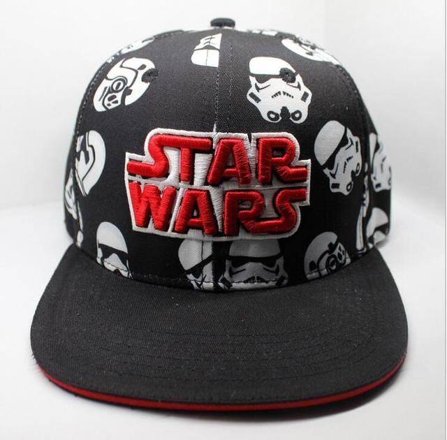 Star Wars Unisex Black Cosplay Adjustable Snapback Cap (2 Styles)