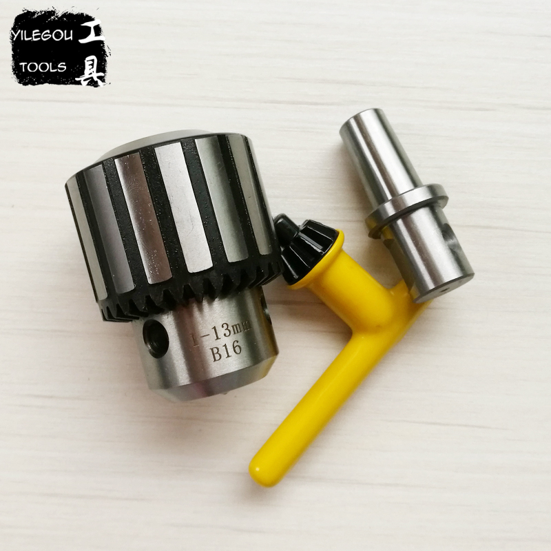 B16 Taper-Shank 1-13mm Steel Chuck And Wedlon Shank (Universal Shank) Adapter (Use Magnetic Drill) Power Tools Accessories 3 pcs lot 1 5 to 13mm capacity heavy key type drill chuck adapter for rotary hammer makita power tools accessories 1 power tools