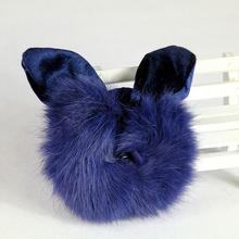 1pcs New Winter Rabbit Fur rabbit ear Tail Holder styling product (B142)
