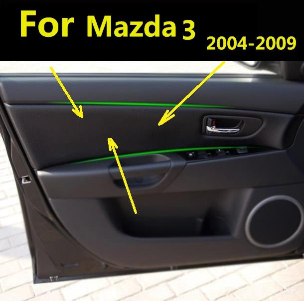 4pcs microfiber front rear door panel leather cover - 2004 mazda 3 interior accessories ...