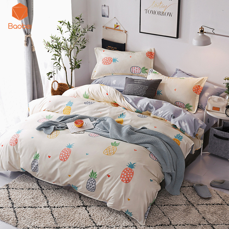 Music Memorabilia Lovely Pineapple Pattern Polyester Bedding Sets Duvetcover Setwinter Flat Bedsheet Pillowcase Queen King Bedlinen Bedclothes Sj115 An Enriches And Nutrient For The Liver And Kidney Rock & Pop