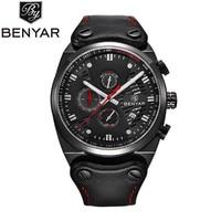 Brand BENYAR 2017 New Men S Watches Quartz Chronograph Watch Men Real Three Dial Luminous Waterproof