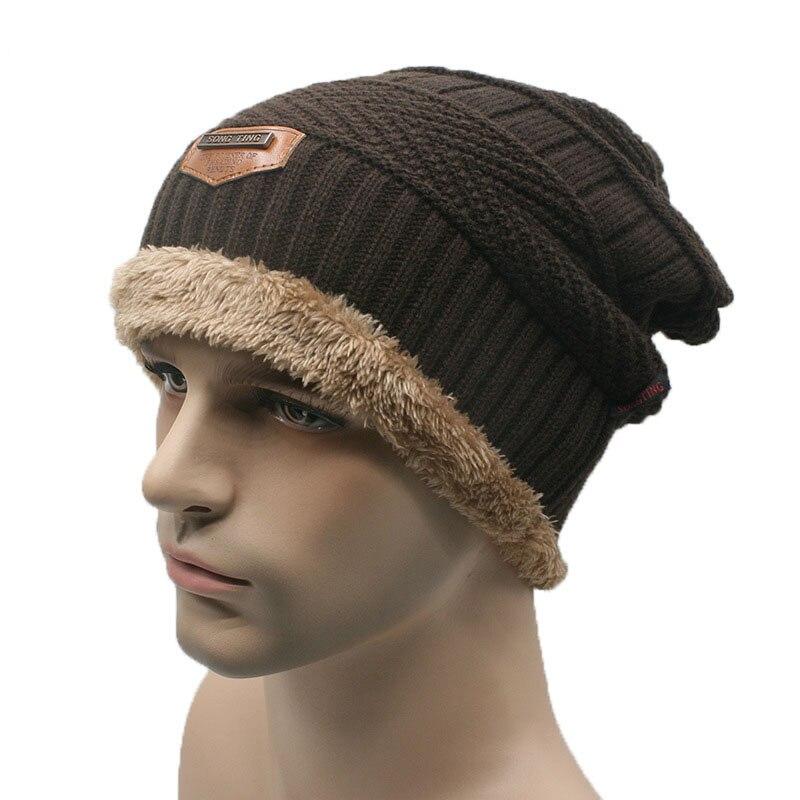 Marca invierno terciopelo Gorros sombrero para hombres mujeres Beanie  Skullies tejer caliente hombre Baggy Gorros en Gorros y sombreros de  Accesorios de ... 18d08542eb2
