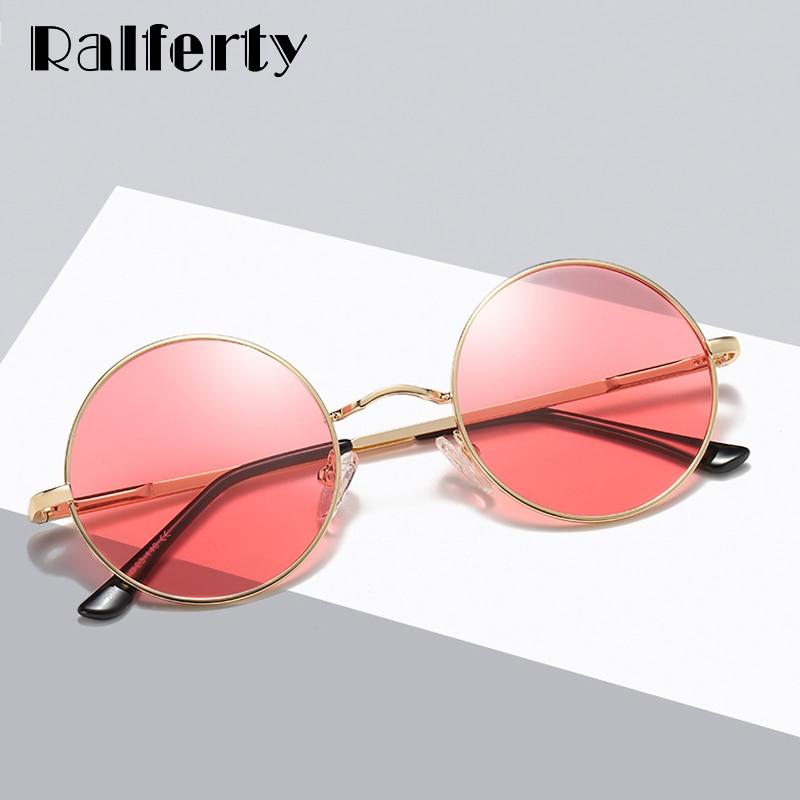 Ralferty Polarized Sunglasses Women Men Classic Round Vintage Retro Sun Glasses Black UV400 Coating Shades Hip Hop Eyewear D801 in Women 39 s Sunglasses from Apparel Accessories