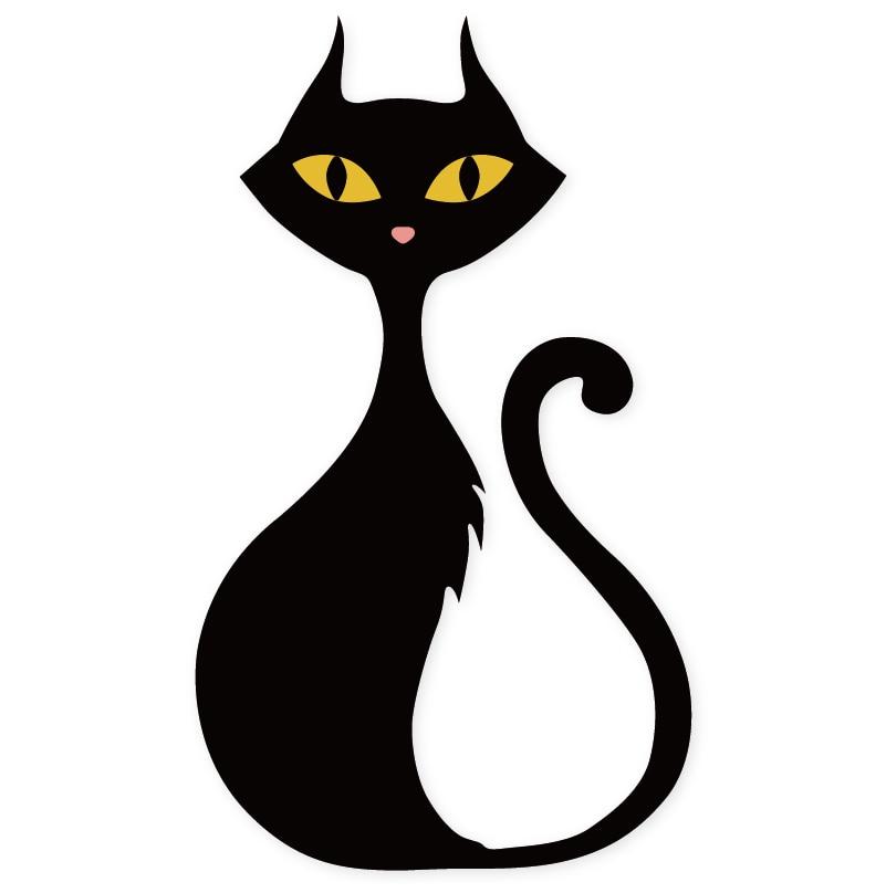 Картинки нарисованная черная кошка