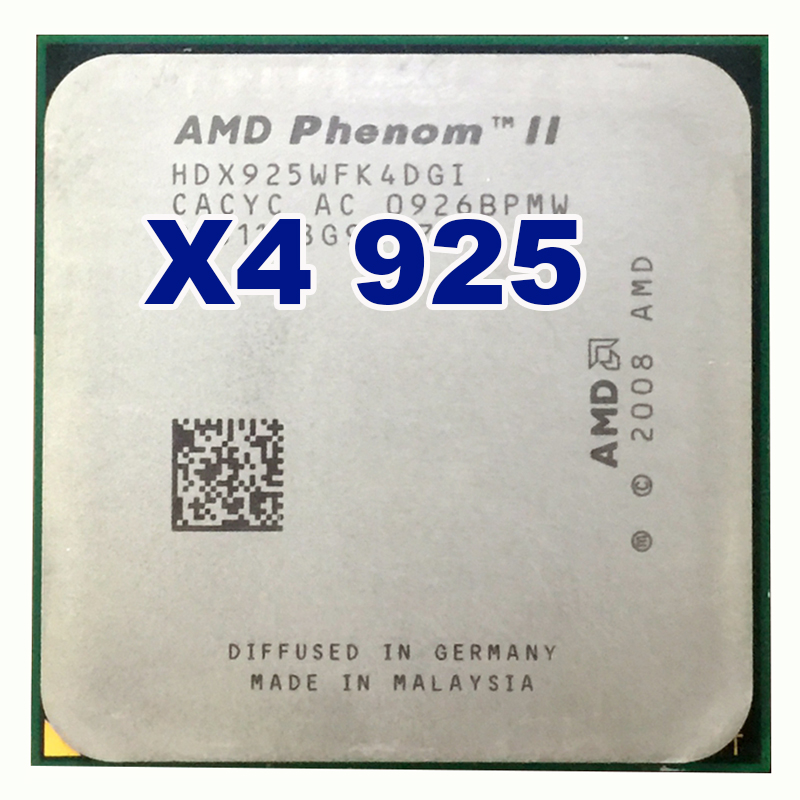 AMD Phenom II X4 925 CPU 2.8 GHz 6 MB L3 Cache Socket AM3 PGA938 De Bureau Quad core processeur