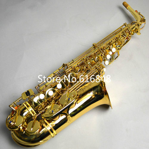 Alto Eb Tune JUPITER JAS-769 Saxophone With Mouthpiece Alto Sax Gold Lacquer Professional Brass Music Instrument Free Shipping hot brand new gold lacquer eb alto trombone student horn nice tone instrumentos musicais profissionaltuba brass
