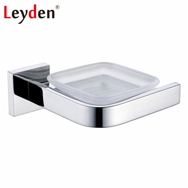 Leyden Single Soap Dish Holder Polished Chrome Finish Stainless Steel  Modern Soap Dish Basket Wall Mounted