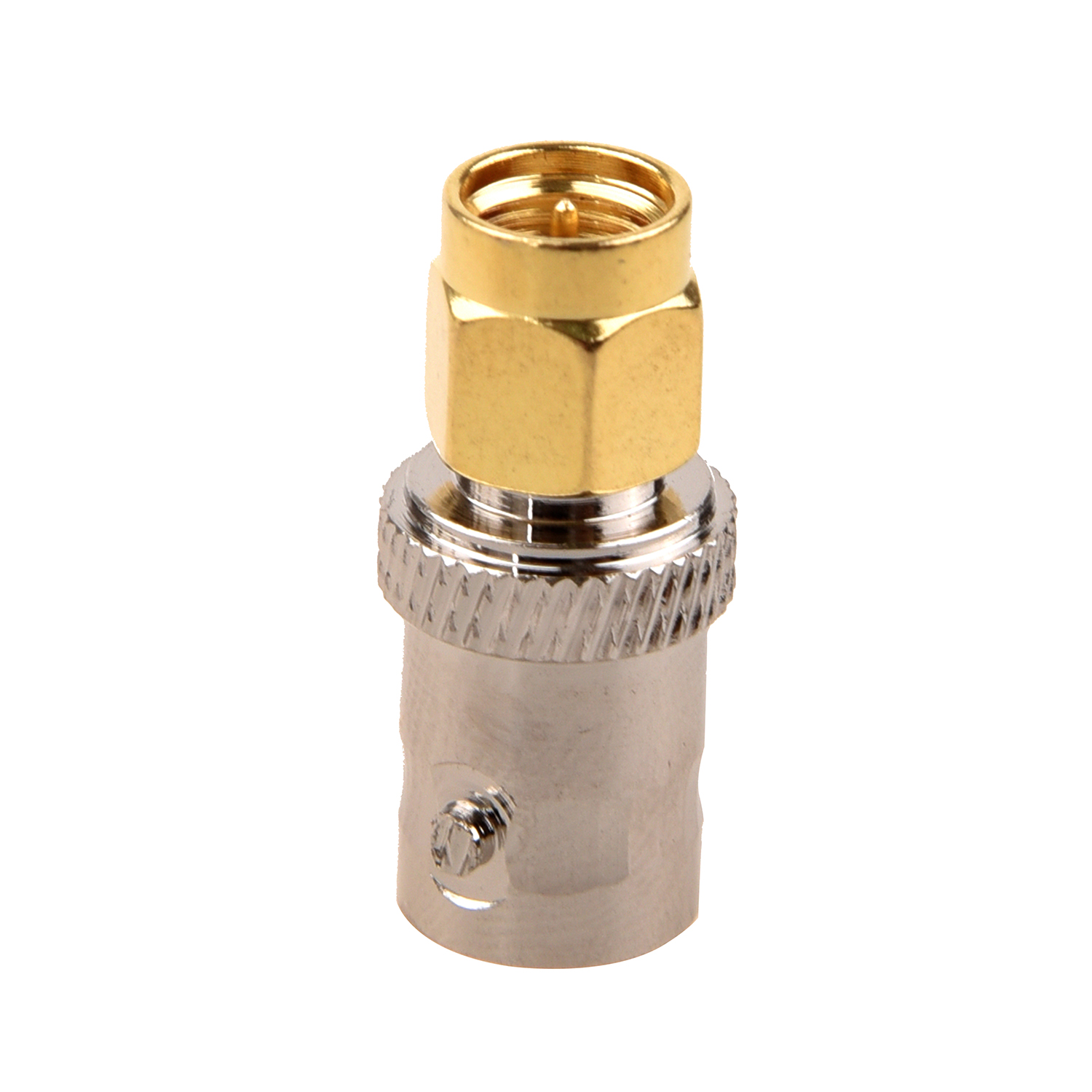 цена на MYLB-Gold Tone SMA Male to Silver Tone BNC Female Connector Adapter