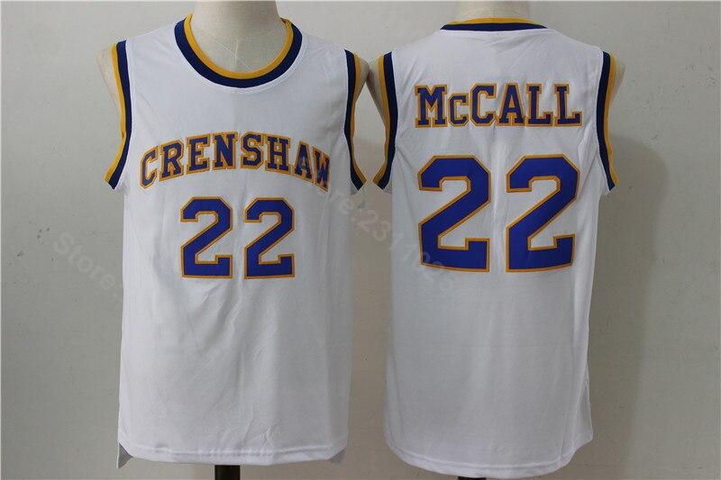 c8057edf8 Ediwallen Men 22 Quincy McCall 2016 CRENSHAW Basketball Jerseys Flint  Tropics Semi Pro Movie Stitched Blue