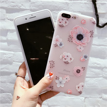 Flower Pattern Case For iPhone 6, iPhone 7, iPhone 8