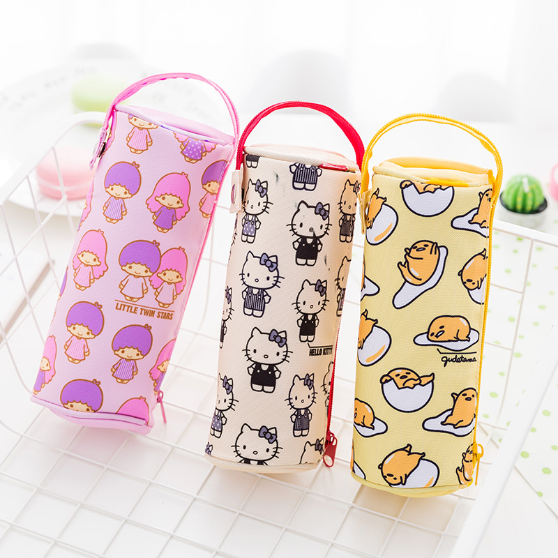 1X Kawaii Kitty Melody Twin Star Sumikko Gurashi Gudetama Pen Pencil Case School Office Supply Student Stationery Kids Gift kawaii kitty melody twin star sumikko gurashi gudetama canvas big capacity pencil pen bag
