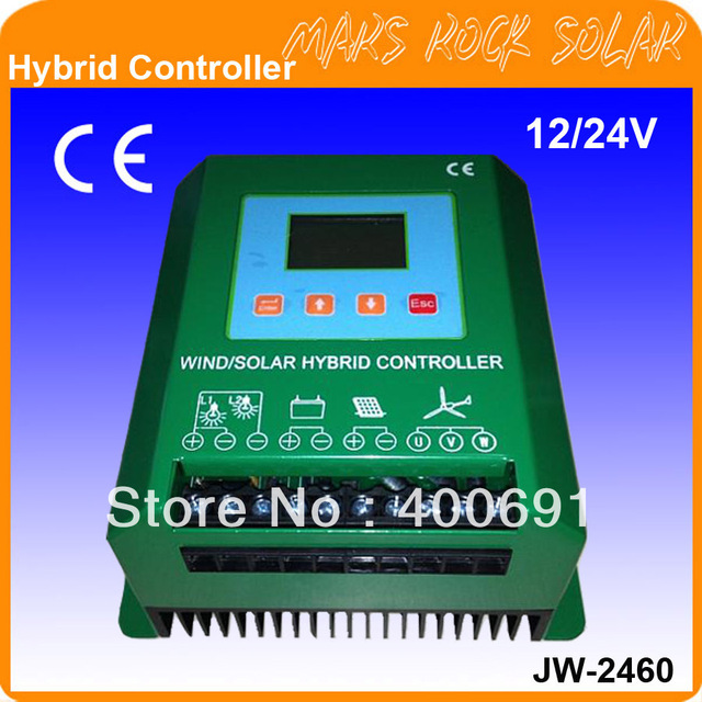 Solar Power 300W, Wind Power 600W, 12/24V Intelligent Hybrid Charge Controller