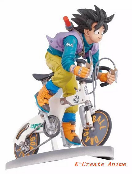ФОТО Free shipping newest 1pcs Anime Dragon Ball Gokou on bike style pvc figure toy tall 16cm.1pcs drgaon ball pvc figure in box.