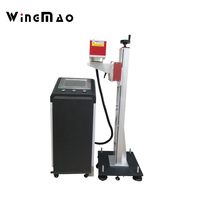 Yongmao High Quality Moving 30 Watt CO2 Laser Marking Lazer Printing Machine For Wood Carvings With