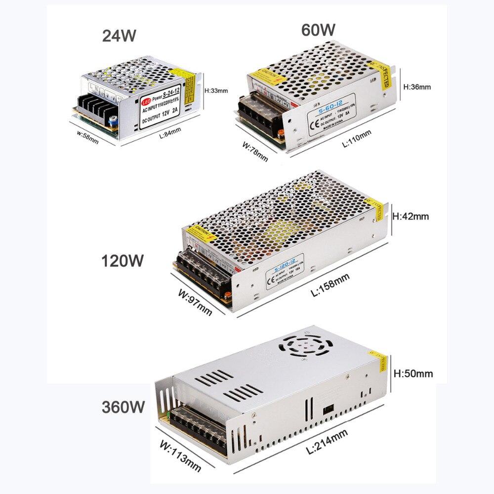 LED drajver 12V Adapter za napajanje Transformator 60W 120W 360W - Različiti rasvjetni pribor - Foto 4
