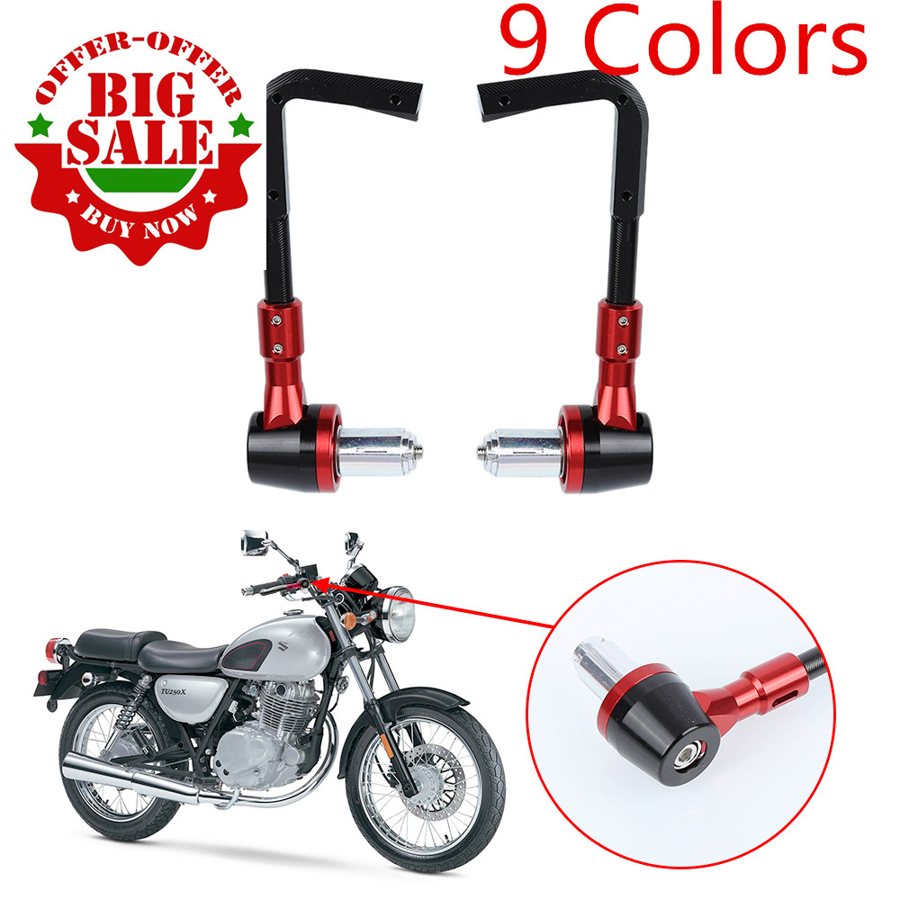 9 colors Aluminum Universal 7/8 Inches 22mm CNC Handlebar Protector Brake Clutch Protect Motorcycle Lever Guard Proguard for 22mm 7 8 handlebar motorcycle dirt bike universal stunt clutch lever assembly cnc aluminum