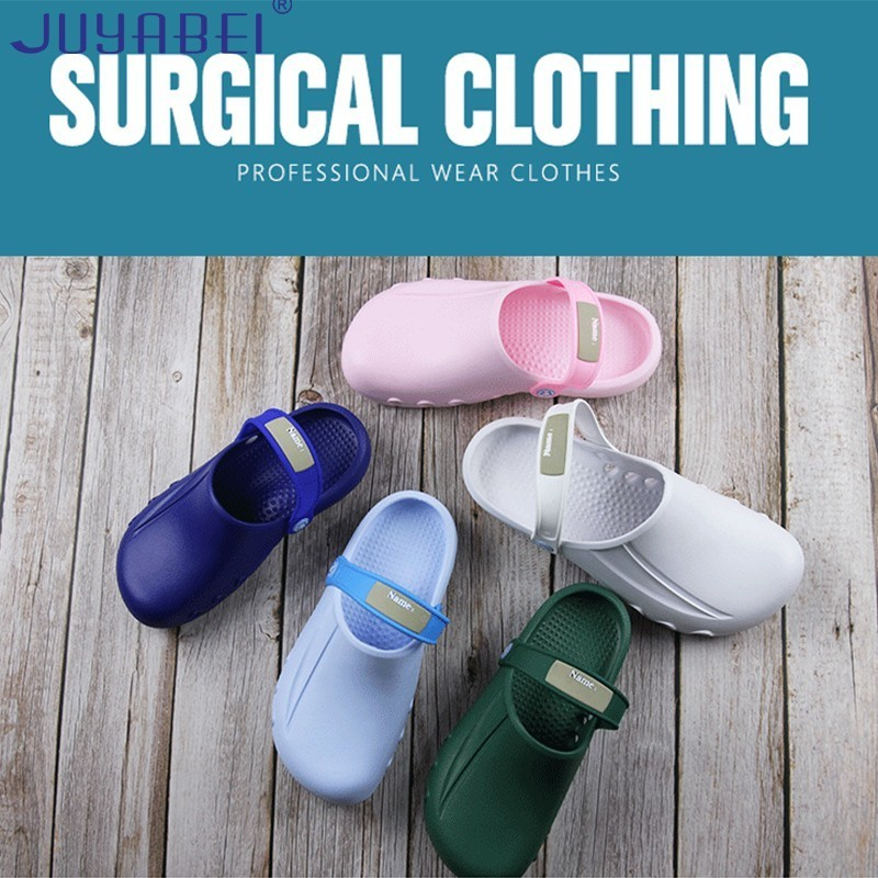 Operating Room Slippers Unisex Hole Shoes Summer Doctor Nurse Medical Shoes Hospital Laboratory Beauty Salon Clinic Work Shoes