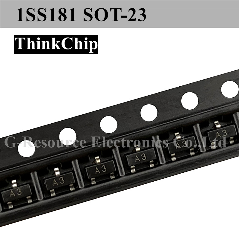 Free Shipping 100pcs/lot 1SS181 SOT-23 SMD Switching Diode NEW Original (Marking A3)