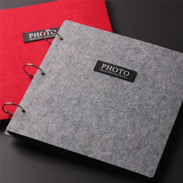 16 Inch Diy Photo Album Baby Black Card Big Wedding Paste Type Handmade Felt