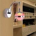 LED Single Head Apple Shape Acrylic Wall Lamp For Indoor Hotel Bedroom