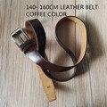 xxxl long big special  size 160 155 150cm   men   genuine cow leather  belts lengthen 61 59 55 inch