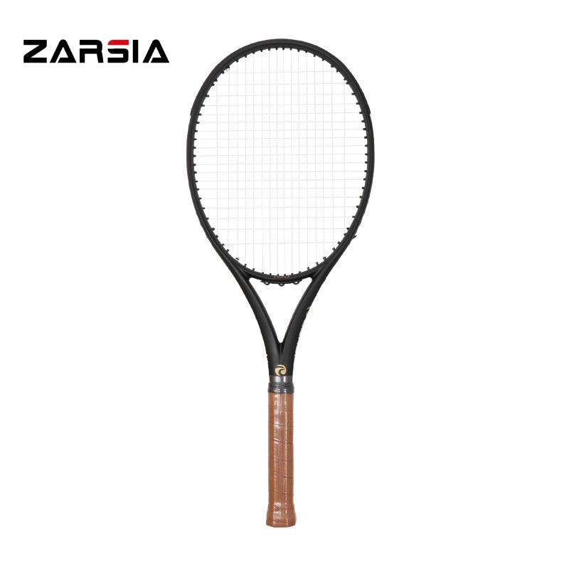 2017 ZARSIA Noir douanes Raquettes De Tennis 100% graphite raquettes de tennis 300g 41/4, 43/8, 41/2 Livraison gratuite