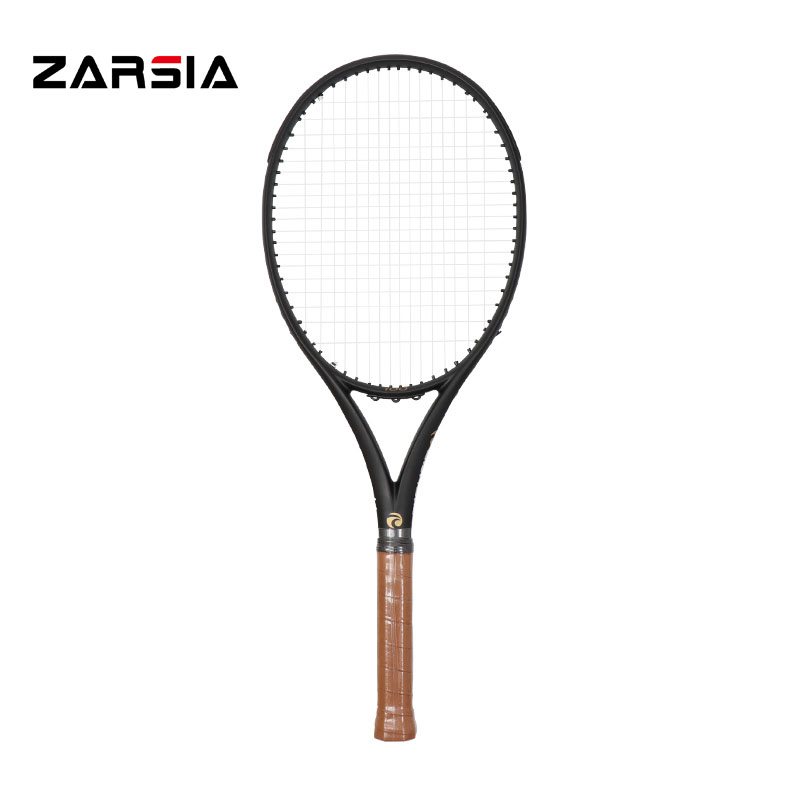 2017 ZARSIA Customs Black Tennis Racquets 100% Graphite Tennis Rackets 300g 41/4,43/8,41/2 Free Shipping