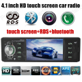 "4.1"" inch touch Screen Car Mp5 Stereo Radio Audio Support Rear Camera 12V Car Bluetooth Player Handsfree RDS Auxin 1 din"