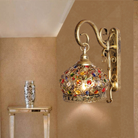 turkish moroccan pendant light handmade mosaic stained glass Corridor Stairwell cafe restaurant hanging light lamp