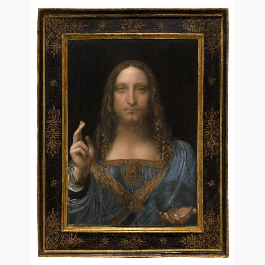 Classic Oil Painting Leonardo Da Vinci The savior Canvas Print Painting Wall Picture Living Room Home Decor 2018010501