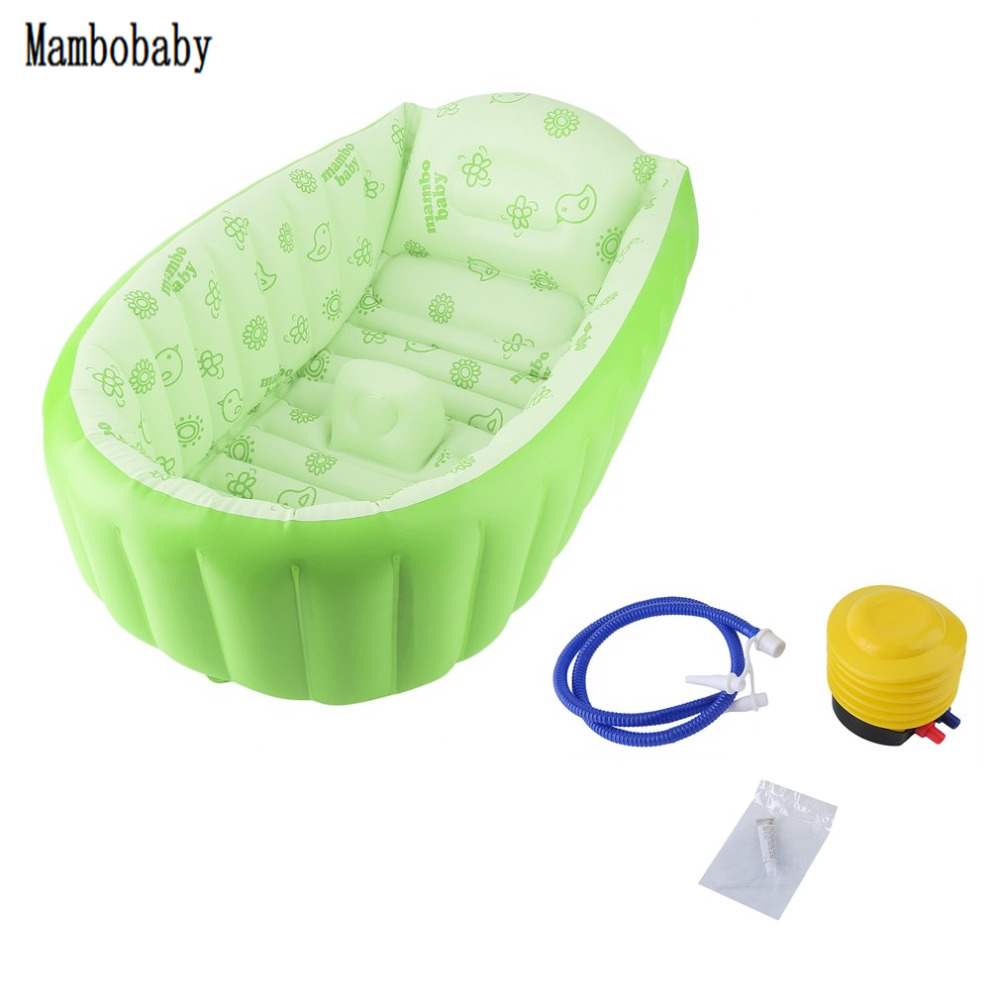 Mambobaby Baby Bath Kids Bathtub Portable Inflatable Cartoon Safety Thickening Washbowl Baby Bath Tub for Newborns Swimming Pool