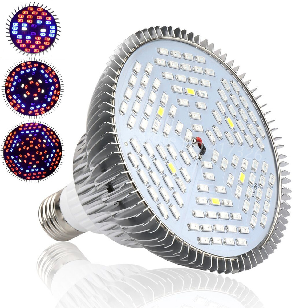 E27 30W 50W 80W Full Spectrum LED Grow Lights LED Horticulture Grow Light for Garden Flowering Plant and Hydroponics System 1pc led grow lights e27 15w 3 red 2 blue for flowering plant and hydroponics greenhouse led lamp full spectrum free shipping