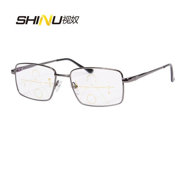7182d87925f New Arrival SHINU Progressive Multifocal Reading Glasses Full Metal Frame  Presbyopia Eyeglasses Can See Near And Far Eyewear