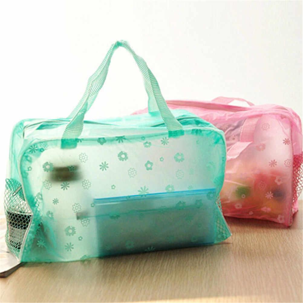 Nhiều màu Trong Suốt Trang Điểm Mỹ Phẩm Du Lịch Sắp Xếp Lưu Trữ Nữ Mỹ Phẩm Nhà Tổ Chức PVC Rửa Túi Bán