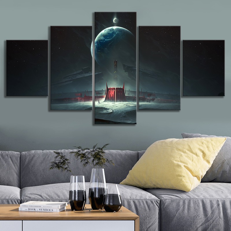 Destiny 2 Shadowkeep Video Games Art Frameless Paintings HD Fantasy Game Poster Wall Art Oil Paintings for Bedroom Wall Decor 1