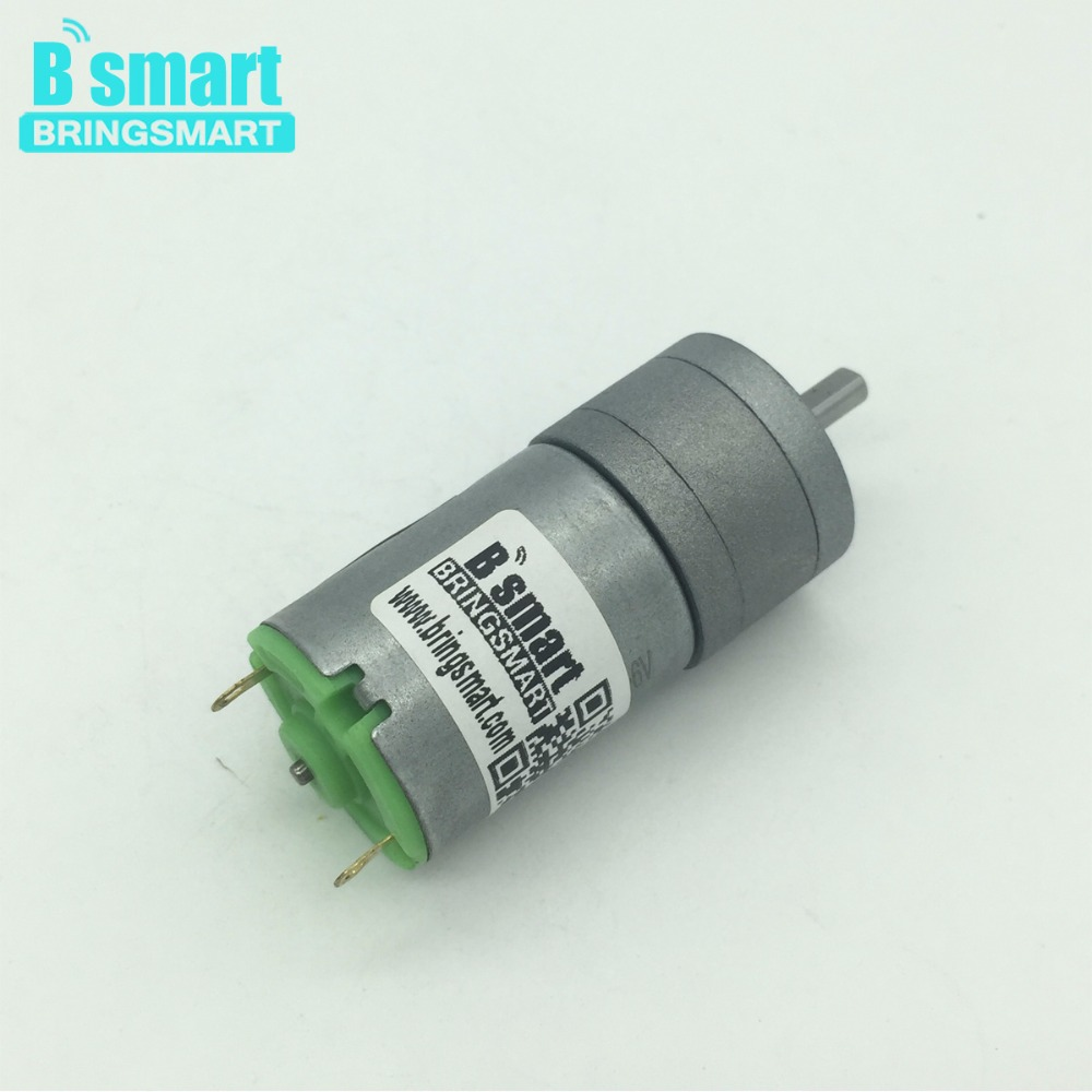 Bringsmart JGA25-280 12 Volt DC Gear Motor DC Reduction Motor Gear Motor Geared 58-1363rpm High Speed Motor For Smart Car bringsmart jga25 370 gear motor 12v dc reduction electric motor low speed micro gearbox reducer for smart car mini tools toys