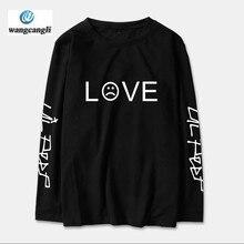 Lil Peep Amore Uomini della MAGLIETTA Delle Donne 2019 Manica Lunga T-Shirt  Magliette e camicette streetwear Maglietta del Coton. bf7ff7e592d5