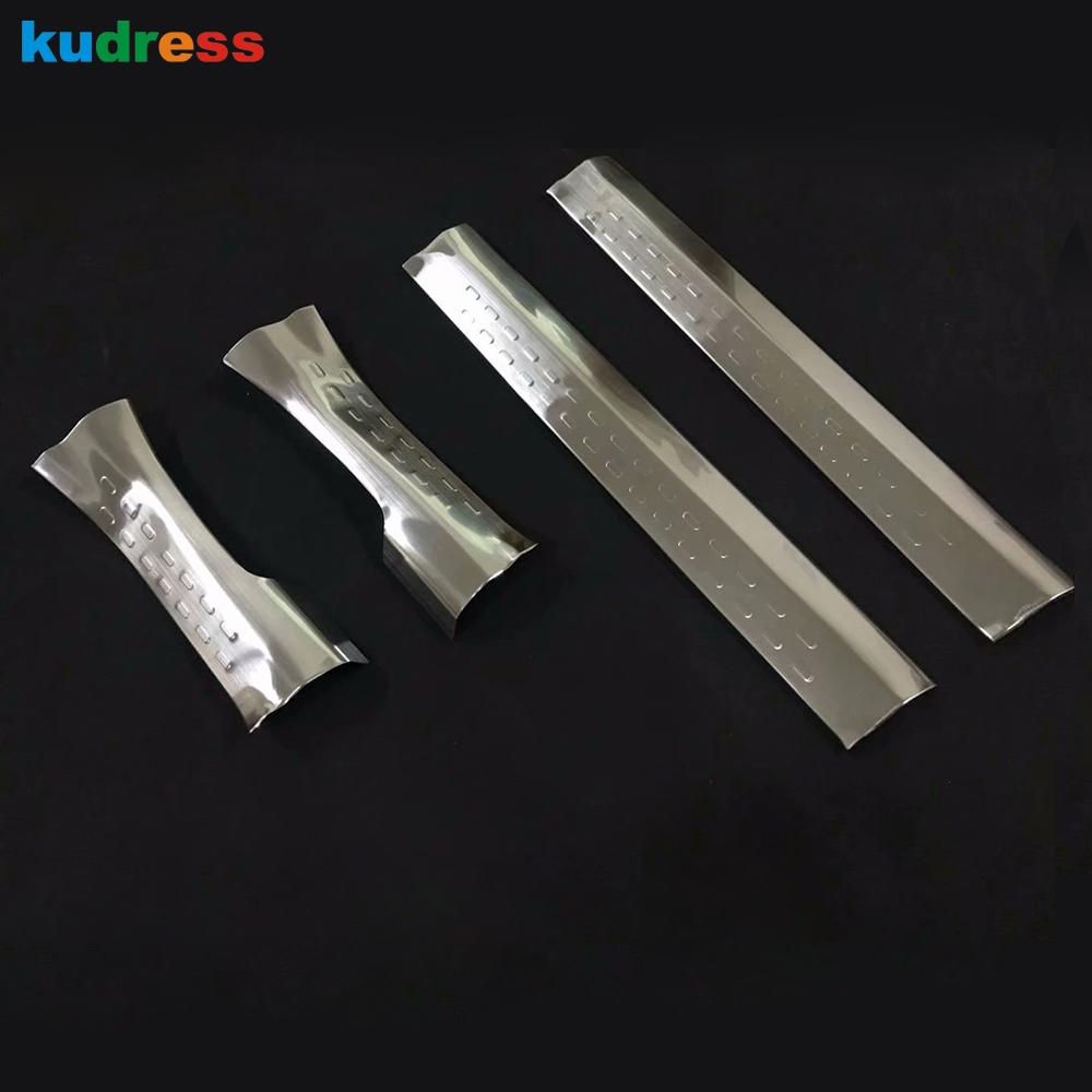 For Nissan Qashqai 2018 2019 Stainless steel Inner Door Sill Scuff Plate Guards Sill pedal Welcome Pedal Guard car Accessories цены