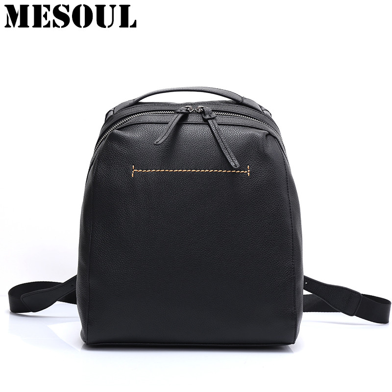 2017 Fashion Women Backpack Bag High Quality Soft Genuine Leather Backpacks for Teenage Girls Female School Shoulder Bag Bagpack 2016 new fashion backpacks genuine leather soft bags women girls rhombus tassels zipper schoolbag satchels bagpack shoulder bag