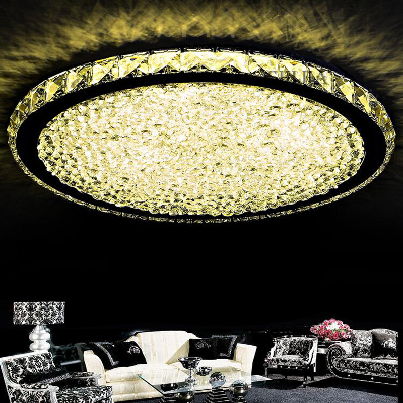 Luxury led flush mount round crystal ceiling lights fixture for luxury led flush mount round crystal ceiling lights fixture for living room led wireless kitchen ceiling plafond lamp in ceiling lights from lights mozeypictures Choice Image