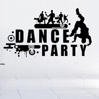 Dance Music Party Wall Sticker Rock Car Name Stickers Pub Ktv Decal Home Decoration Mural Band