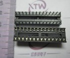 High quality 20pcs/lot 28 Pins DIP DIP28 IC Sockets Adaptor Solder Type 28 PIN IC Connector